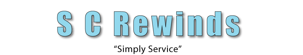 SC Rewinds logo - SC Rewinds electro mechanical repair and service Belfast